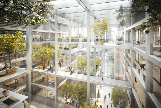L'immeuble de Foster + Partners à Belval joue avec la transparence.