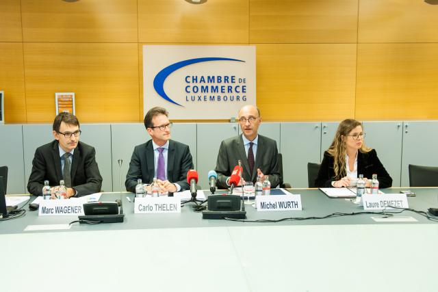 Marc Wagener, Carlo Thelen, Michel Wurth, Laure Demezeret, Chambre de commerce