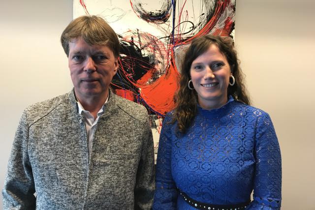 Le CEO de la House of Training, Luc Henzig, et Muriel Morbé, directrice de la House of Training. Nouveau catalogue 2019