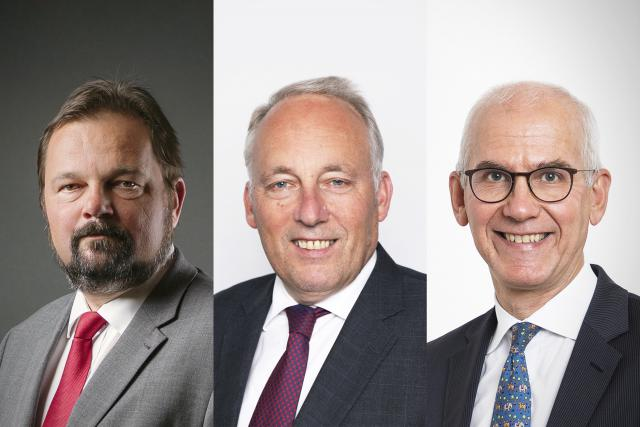Charles Muller, avocat et directeur indépendant, Jacques Elvinger, d'Elvinger Hoss Prussen et Marc-André Bechet, Directeur Legal & Tax pour l'Alfi.