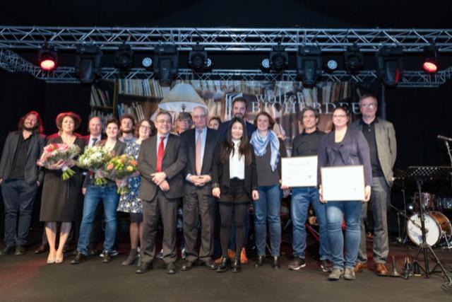 Les lauréats du 13e Lëtzebuerger Buchpräis.