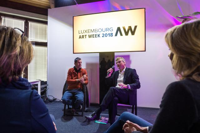 Alex Reding et Marc Hostert présentent l'édition 2018 de Luxembourg Art Week.