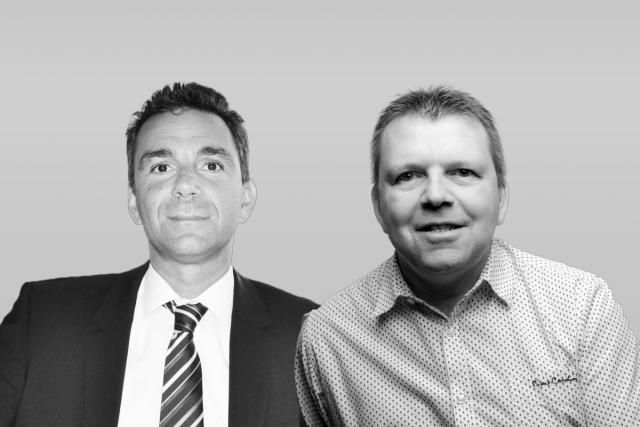 Giuseppe Consoli, senior manager sales chez Foyer et Olivier Murru, associé-gérant de la fiduciaire Cabexco.