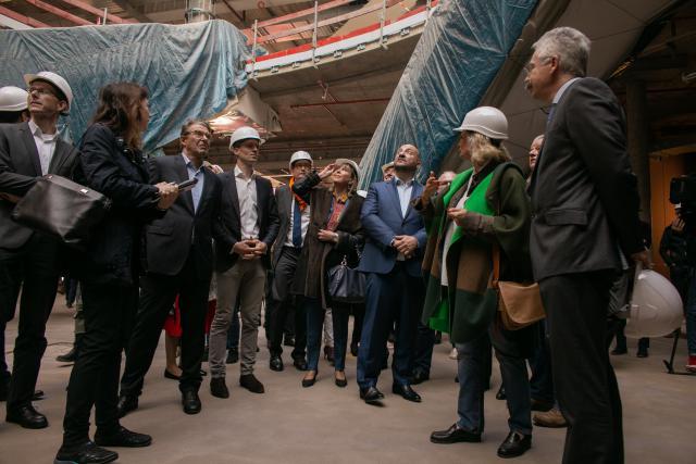 Plusieurs grands chantiers vont être finis au cours de l'année2019, dont le centre commercial de la Cloche d'Or.