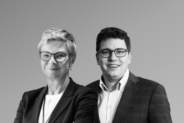 Martine Hansen et Sven Clement