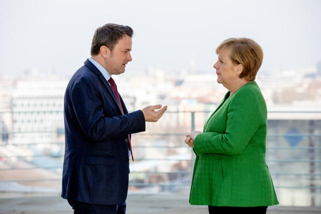Xavier Bettel, Angela Merkel