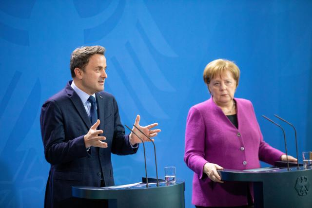 Xavier Bettel et Angela Merkel