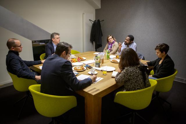 Muriel Bouchet et Michel-Edouard Ruben ont rendu visite à la rédaction de Paperjam.