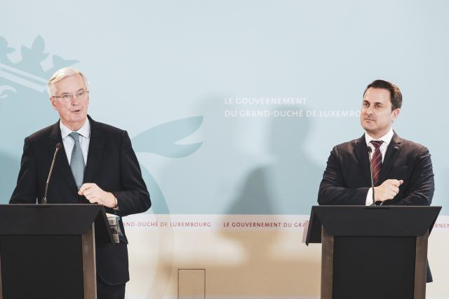 Michel Barnier et Xavier Bettel