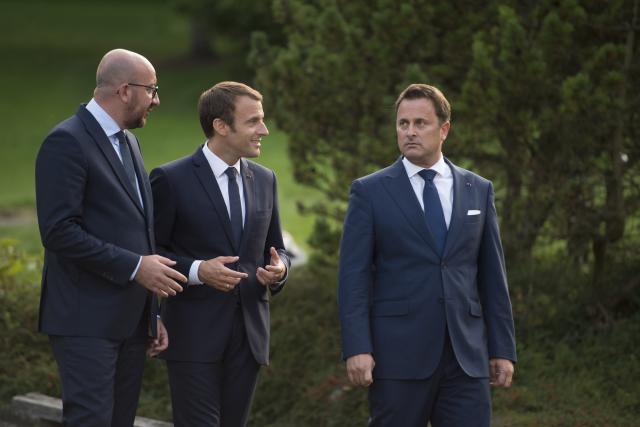 Bettel Michel et Macron Luxembourg