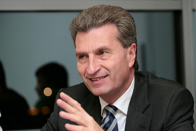 Günther Oettinger, commissaire allemand du budget de l'UE.