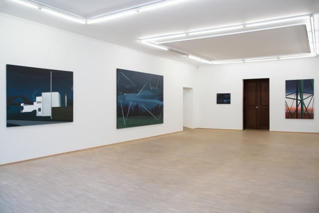 Vue de l'exposition «Windways» de Tina Gillen à la galerie Nosbaum Reding.