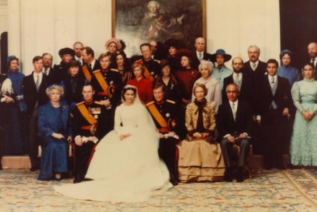 La famille grand-ducale lors du mariage du Grand-Duc Henri.
