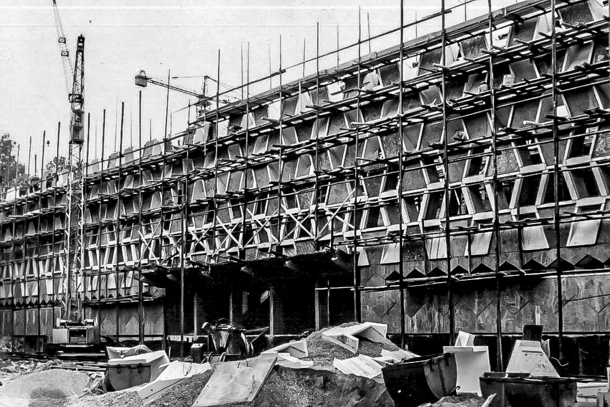 Construction du Grand Théâtre en 1958.